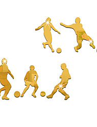 3D Wall Stickers Wall Decals Style Football Players Mirror Wall Stickers