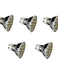 3W E14 GU10 E26/E27 Faretti LED MR16 27 SMD 5050 300 lm Bianco caldo Luce fredda Intensità regolabile Decorativo AC220 V 5 pezzi