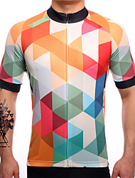 SUREA Cycling Jersey Men's Short Sleeve Bike Jersey Quick Dry Breathable Sweat-wicking Coolmax LYCRA® Classic Summer