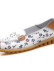 Women's Loafers & Slip-Ons Summer Fall Comfort Ballerina Light Soles Outdoor Dress Casual Low HeelSplit Joint Ruched