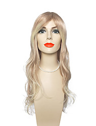 Synthetic Fiber Wig Long Deep Wave Wig Blonde Color Wigs Wigs for Women Costume Wigs Cosplay Wigs