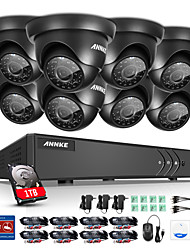 ANNKE® 8CH 8PCS 720P HD Video Camera 4in1 DVR Home Surveillance CCTV System with P2P IR Night 1TB