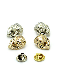 Boys Brooches Animal Design Euramerican Personalized Gold Plated Alloy Lion Shape Silver Gold Jewelry For Daily Casual