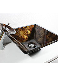 Antique Round Sink Material is Tempered Glass Bathroom Sink