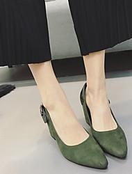 Женские туфли на каблуке&Карьера случайный армия зеленый черный