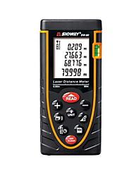 Sndway sw-80 digital portátil 80m medidor de distância 635nm laser com distância&Medição de ângulo (1,5 aaa baterias)