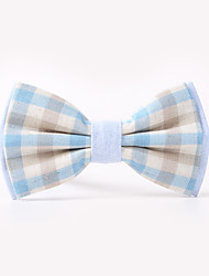 The Fashion Leisure Clothing Accessories CB01901 Cotton Men's Plaid Bow Tie