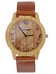 Top brand Men's Bamboo Wooden Bamboo Watch Quartz Leather Strap Men Watches relojes mujer