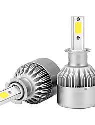 2шт h3 36w 3600lm светодиодные фары комплект луковицы 6000k заменить галогеновый ксенон