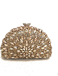Women Vintage Clutches Evening Bags Coverd with Grade A Glass Stone