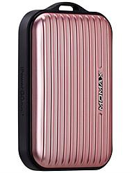 Bateria externa momax 10000mah com tecnologia de carregamento usb e automax de 1 tomada