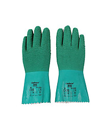 Ansel /ANSELL Green Natural Rubber gloves 30cm Long 250 Degrees Heat Insulation