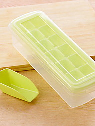 12 Grid Plastic DIY Originality Ice Mould Ice Box With Cover