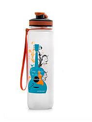 Cartoon Guitar and Saxophone Water Bottle 1000ml