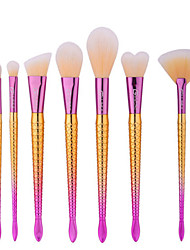 7Pcs Makeup Brush Suit  Beauty Makeup Tools  The little Mermaid Foundation Brush Brush Tail