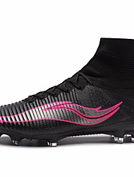 Soccer Cleats Football Boots Men'sAnti-Slip Anti-Shake/Damping Cushioning Impact Wearproof Waterproof Breathable Height Increasing