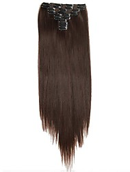 Synthetic hair Extensions 25inch Long 180g Straight Fake False Hair Extension Heat Resistant Synthetic Natural Hair Extension D1021 2/33#