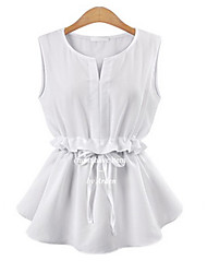 Women's Casual/Daily Simple Blouse,Solid V Neck Sleeveless Others