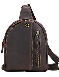 The trend of men's casual personality all-match male chest pack bag leather Crossbody Bag chest