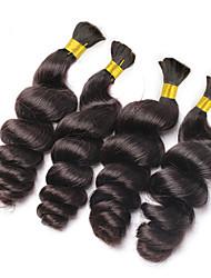 Bundle cheveux Cheveux Brésiliens Ondulation Lâche 3 Mois 4 Pièces tissages de cheveux