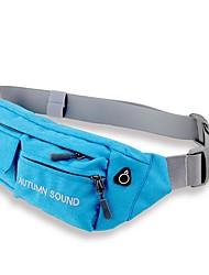 Для мужчин Нейлон Спортивный На каждый день Для отдыха на природе Поясная сумка Серый Лиловый Цвет морской волны Желтый Зеленый