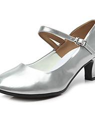 2017 New Women's Dance Shoes Latin Sandals dance shoes  ladies Girls Cuban Heel 5/7 Leather Customizable(Modern)