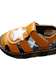 Boys' Sandals Spring Summer Comfort PU Casual Flat Heel LED Brown White