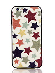 For Apple iPhone 7 7 Plus iPhone 6s 6 Plus Case Cover The Stars Pattern 3D Relief Plastic Back Shell TPU Frame Cases