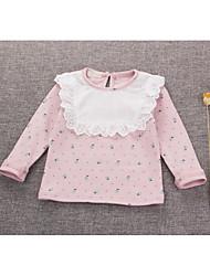 Baby T-Shirt,Lässig/Alltäglich einfarbig-Kunstpelz-Frühling-