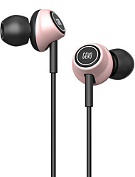 GEVO Gv6 Stereo Ergo-Fit Music In-Ear Headphones with Microphone Inline Controls for IOS/ Android Built-in Mic Hands-free Calling Extra Earbuds(Pink)