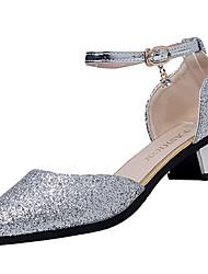Women's Sandals Summer Comfort PU Outdoor Low Heel Buckle Walking