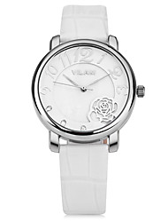Vilam Women's Dress Watch Fashion Quartz  Lady Watch Water Resistant  Leather Charm Casual Special  Flower Design Girl's Wristwatch