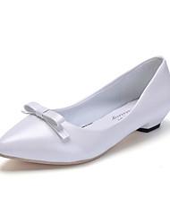 Feminino-Rasos-Sapatos clube Sapatos formais-Salto Baixo--Courino-Ar-Livre Escritório & Trabalho Casual