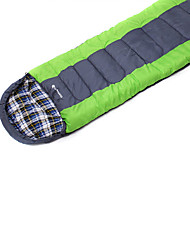 Schlafsack Rechteckiger Schlafsack Einzelbett(150 x 200 cm) -10 20 T/C Baumwolle 190X75 Camping Feuchtigkeitsundurchlässig warm halten