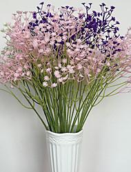 Colorful Babysbreath Baby Breath Bouquet Flower Plants Home Decor(6 pcs)(4 color)