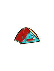 Fashion Trendy Cute  Enamel Tent Metal Brooch