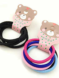 South Korea's Hair Accessories Boutique Rope Elastic Hair Hair Bands High Elastic Hair Band 25/5 Card Mix