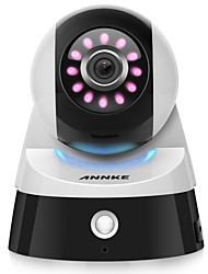 Annke® 2.0m 1080p hd mini smart telecamera di sicurezza wifi con ir-cut 64 (rilevazione di movimento notturna) 2 way audio