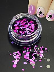 1Bottle Fashion Nail Art Glitter Round Paillette Nail Art DIY Beauty Round Slice Romantic Design Decoration P23