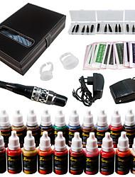 Solong Tattoo Eyebrow Kit Permanent Makeup Machine Tattoo 23 Inks Needle EK709-3
