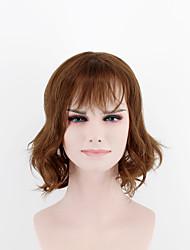 Япония и юг Корея модный леди короткий пункт парик коричневый прямой челка естественный волна высокой температуры провод парик