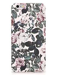Pour Apple iphone 7 7plus casquette couverture couverture arrière étui fleur dur pc 6s plus 6 plus 6s 6