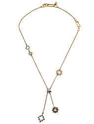 Women's Pendant Necklaces Irregular Chrome Unique Design Euramerican Gold Jewelry For Casual Christmas Gifts 1pc