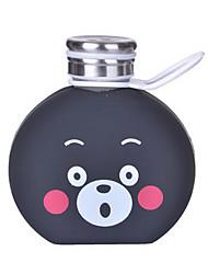 300ml Cartoon Portable Glass Water Juice Bottle