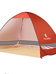3-4 personnes Tente Unique Tente automatique Une pièce Tente de camping 1000-1500 mm Acier inoxydableRésistant à l'humidité Etanche