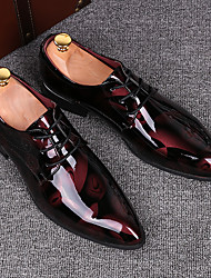 Men's Shoes Microfibre Spring Fall Formal Shoes Loafers & Slip-Ons For Casual Yellow Red Blue