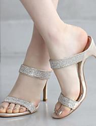 Женские босоножки весенние клубные туфли комфорт pu casual серебро черного золота