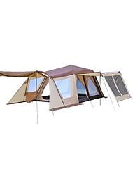 > 8 pessoas Duplo Tenda Automática Dois Quartos Barraca de acampamento 1500-2000 mmResistente Raios Ultravioleta Á Prova-de-Chuva Á