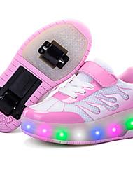 Para Meninas-Tênis-Light Up Shoes Shoe luminous-Salto Baixo--Tule-Ar-Livre Casual Para Esporte