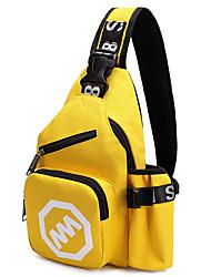 Men Canvas Outdoor Sling Shoulder Bags Yellow